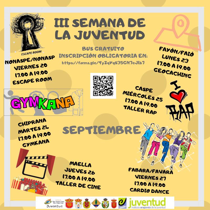 Semana de la Juventud- Comarca Bajo Aragón Caspe