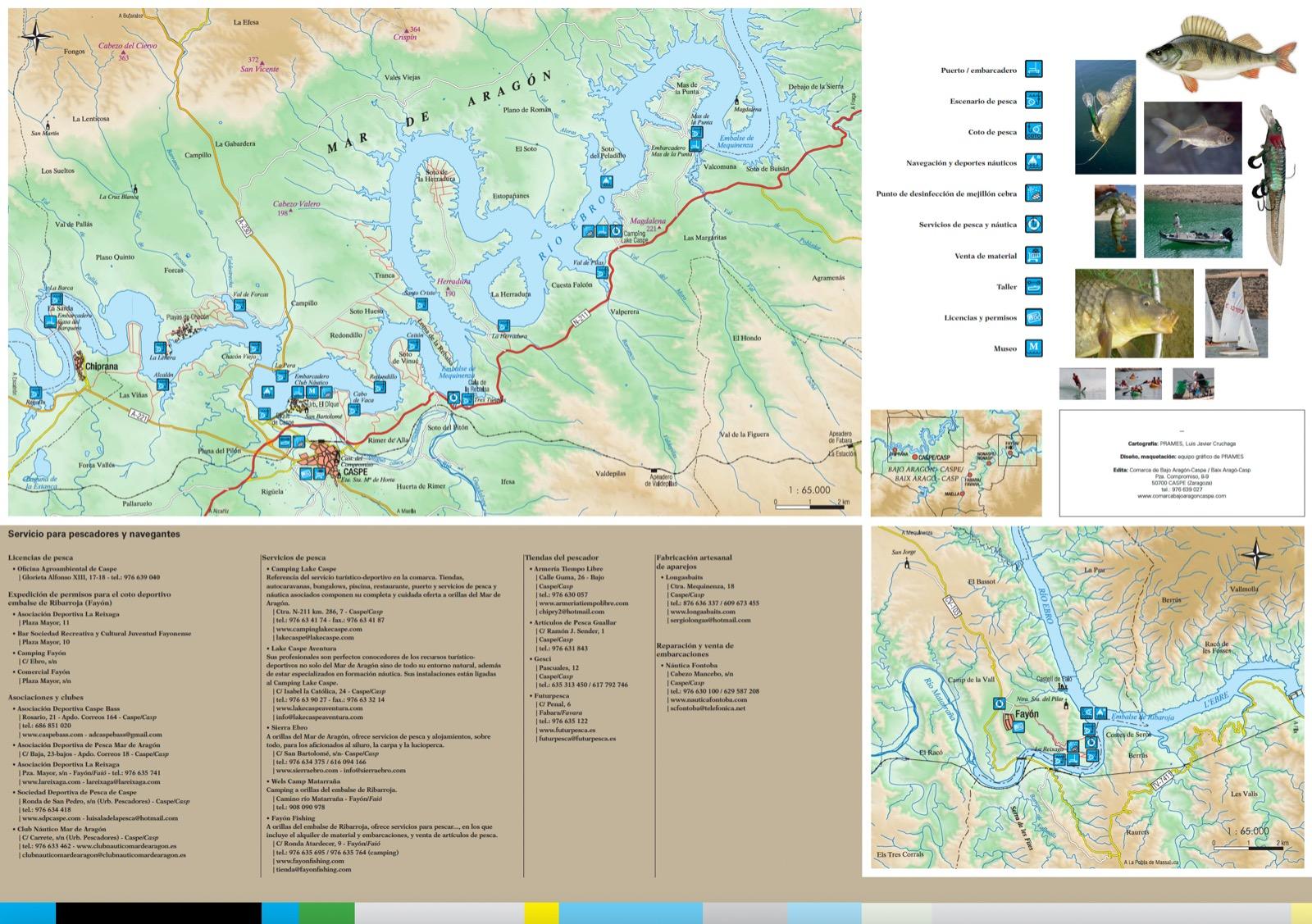 Mapa pesca en Caspe